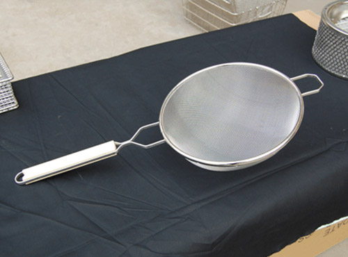 Double Tinned mesh strainer 6''8'' 10''